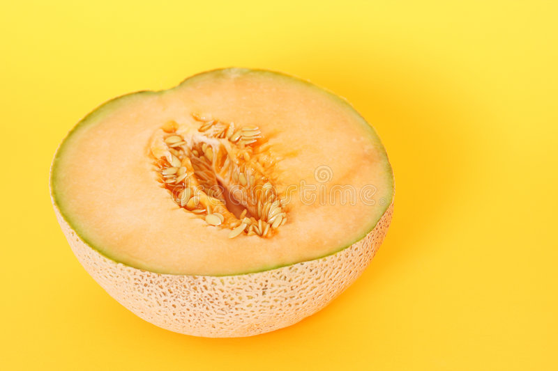 Demi de cantaloup photo stock