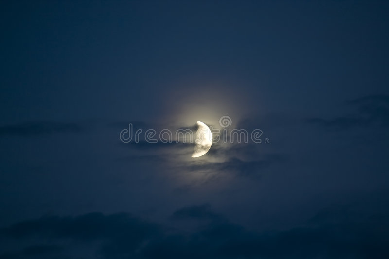 Demi de lune photographie stock