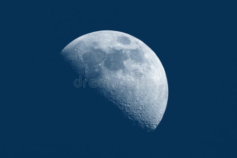 Demi de lune par jour image libre de droits