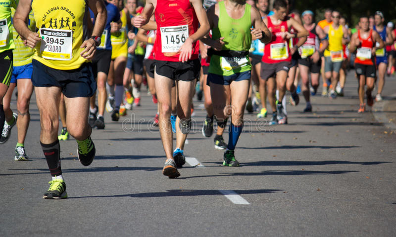 Demi de marathon photo stock