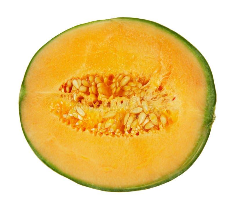 Demi de melon d'isolement sur le blanc photos stock