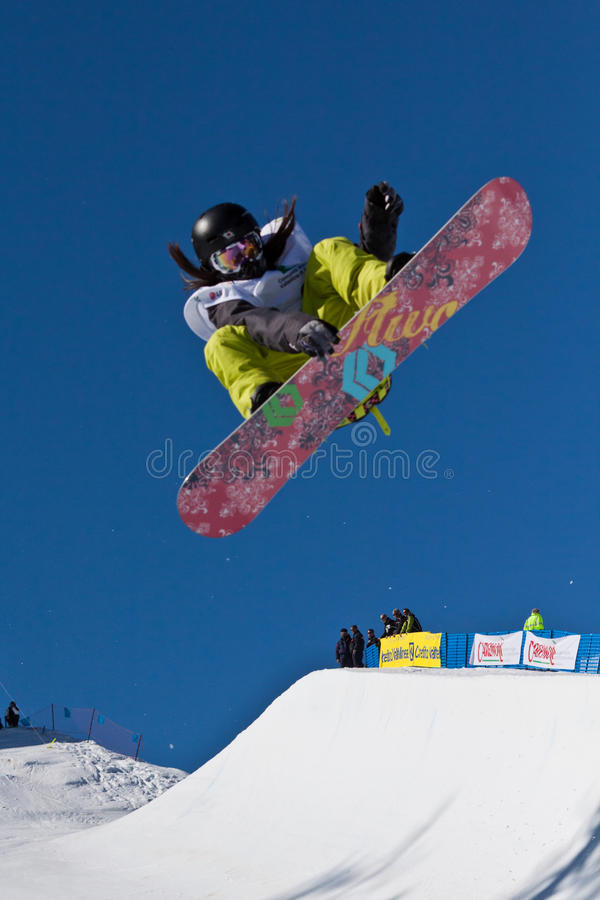 Demi de snowboard de pipe images stock