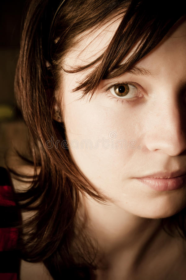 Demi de verticale de visage photo stock