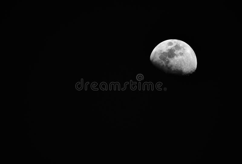 demi-lune dans l'obscurité images libres de droits