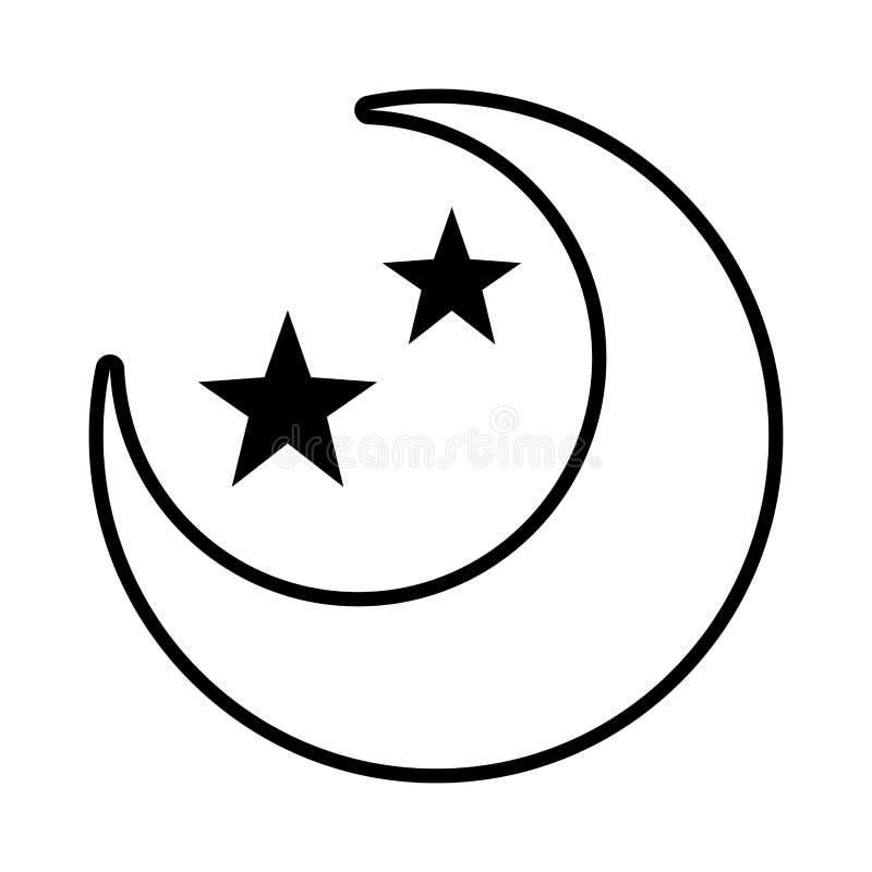 Demi-lune et ?toiles illustration libre de droits