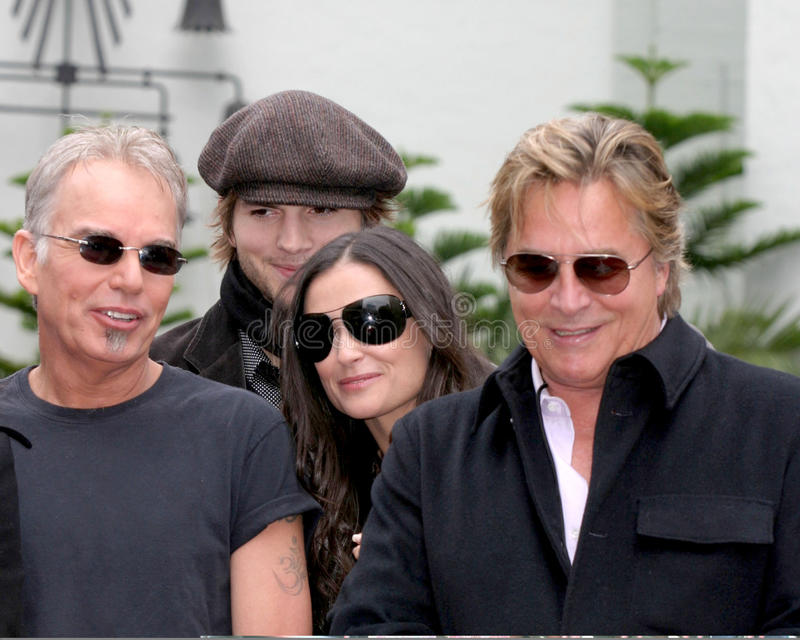 Demi Moore, Don Johnson, Ashton Kutcher, Billy Bob Thornton photo libre de droits