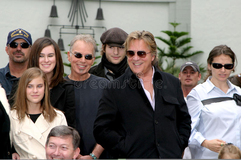 Demi Moore, Don Johnson, Ashton Kutcher, Billy Bob Thornton, Bruce Willis, Billy SE MENEA Thornton imagen de archivo libre de regalías