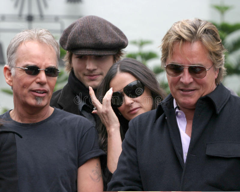 Demi Moore, Don Johnson, Ashton Kutcher, Billy Bob Thornton, PLOMBS Thornton, Bruce Willis de Billy image libre de droits
