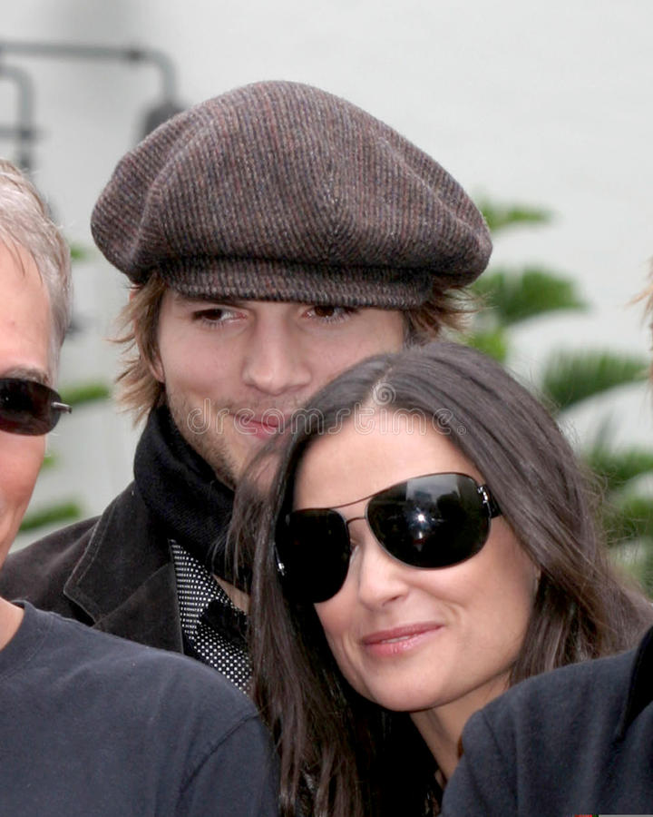 Demi Moore, Don Johnson, Ashton Kutcher, Billy Bob Thornton, PLOMBS Thornton de Billy image stock