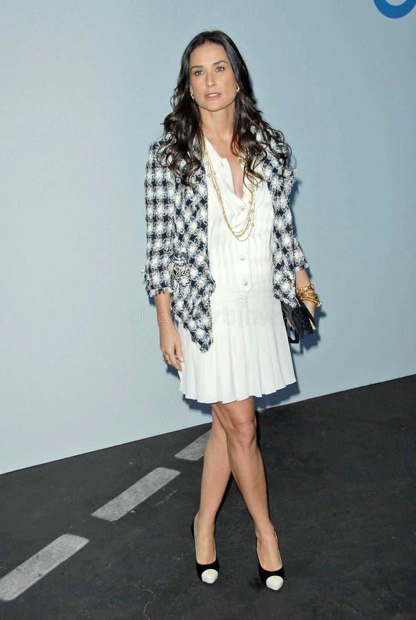 Demi Moore, Karl Lagerfeld fotografie stock