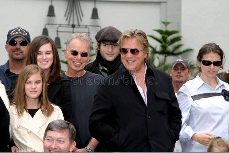 Demi Moore, universitetsläraren Johnson, Ashton Kutcher, det Billy egennamn Thornton, Bruce Willis, Billy GUPPAR Thornton royaltyfri bild