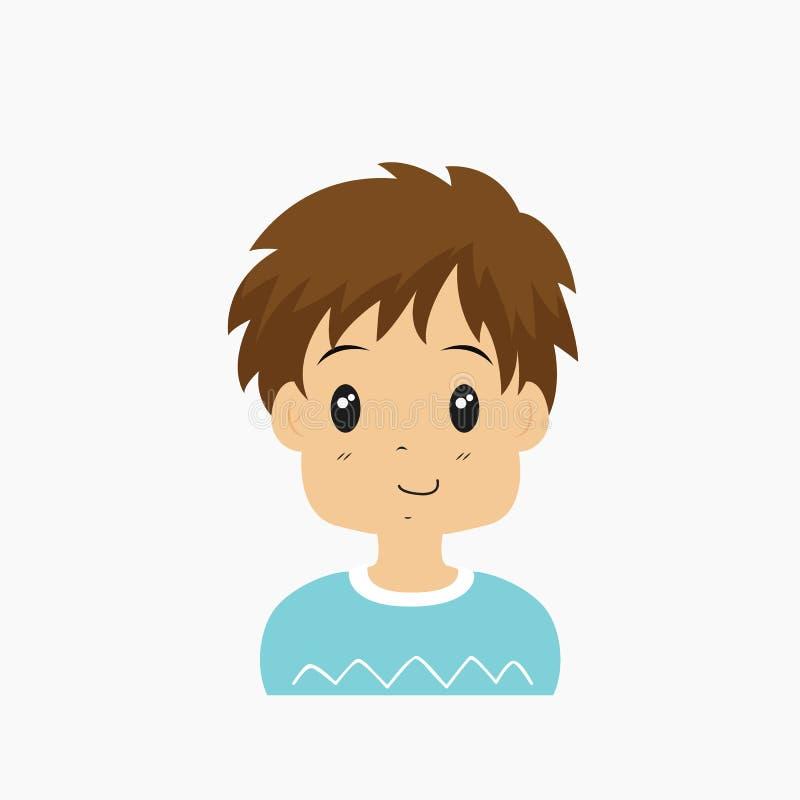 Demi vecteur d'avatar de Little Boy de corps illustration de vecteur