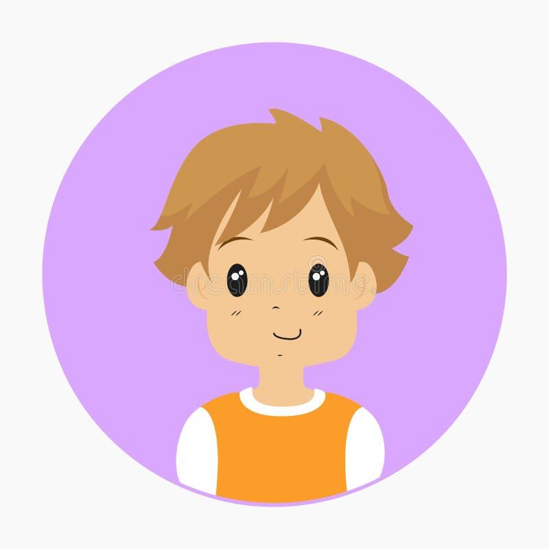 Demi vecteur de Little Boy de corps illustration libre de droits