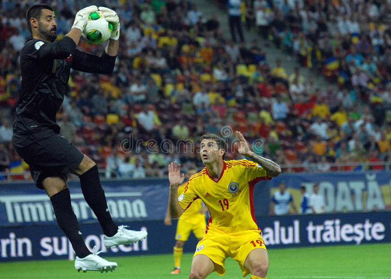 Download Demirel Volkan And Bogdan Stancu Players In Romania-Turkey World Cup Qualifier Game Editorial Stock Image - Image: 33544289