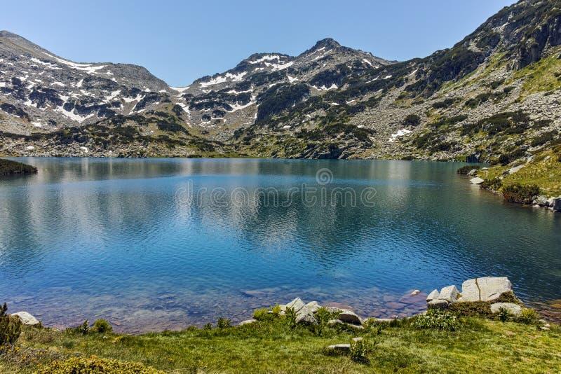 Demirkapiyski chukar peak and Popovo lake, Pirin Mountain. Bulgaria stock images