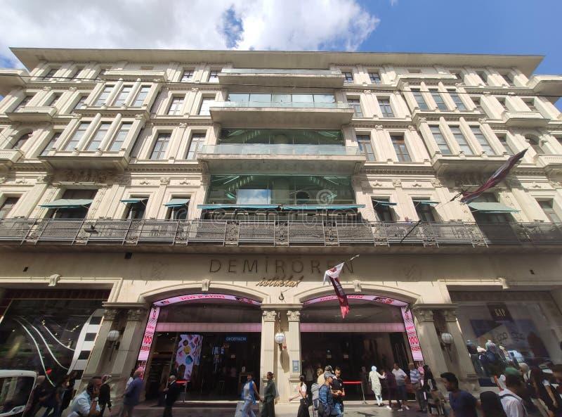 Demiroren shopping centre on Istiklal Caddesi. Istanbul, Turkey. stock photography