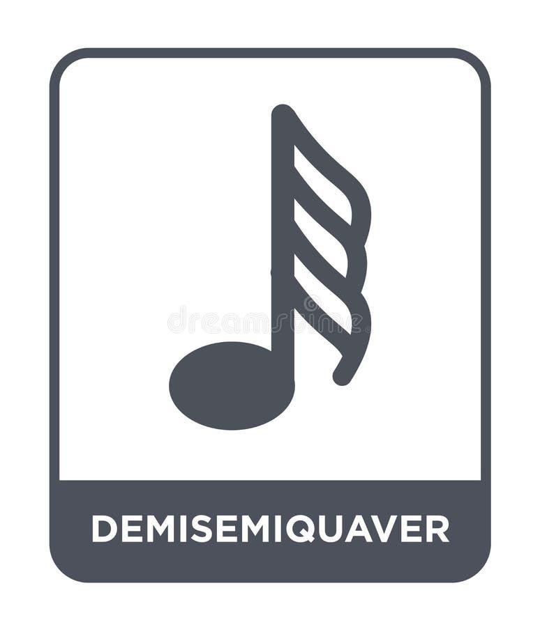 demisemiquaver εικονίδιο στο καθιερώνον τη μόδα ύφος σχεδίου demisemiquaver εικονίδιο που απομονώνεται στο άσπρο υπόβαθρο demisem απεικόνιση αποθεμάτων