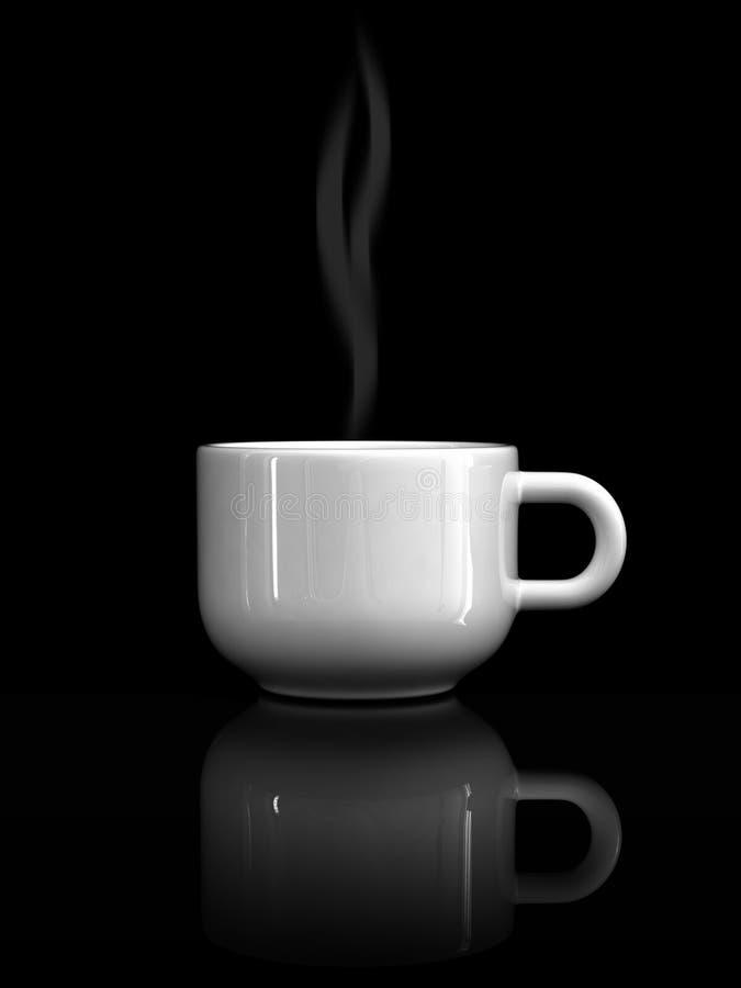 demitasse Weiße Kaffeetasse stock abbildung