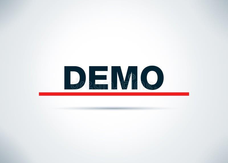 Demo Abstract Flat Background Design illustration stock illustrationer