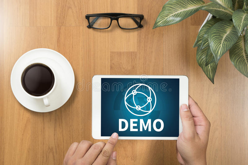 DEMO Demo Preview Ideal Trial Ideal et Demo Preview photo stock