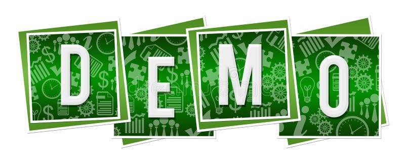 Demo Green Business Texture Blocks royaltyfri illustrationer