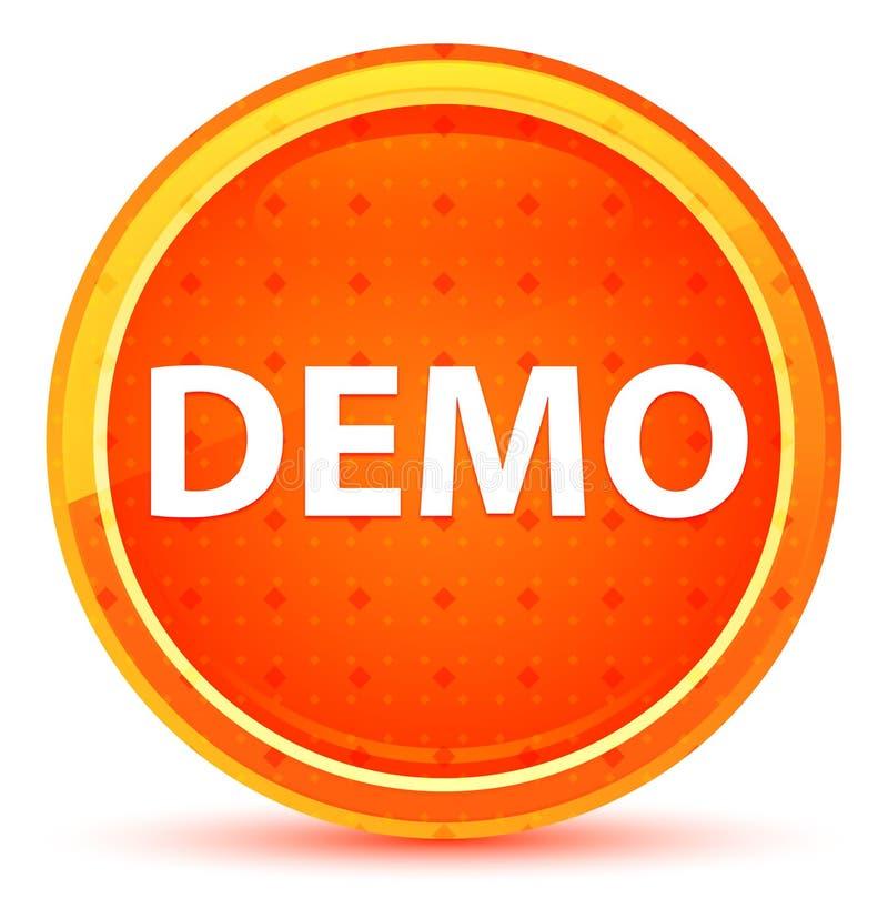 Demo Natural Orange Round Button stock illustrationer