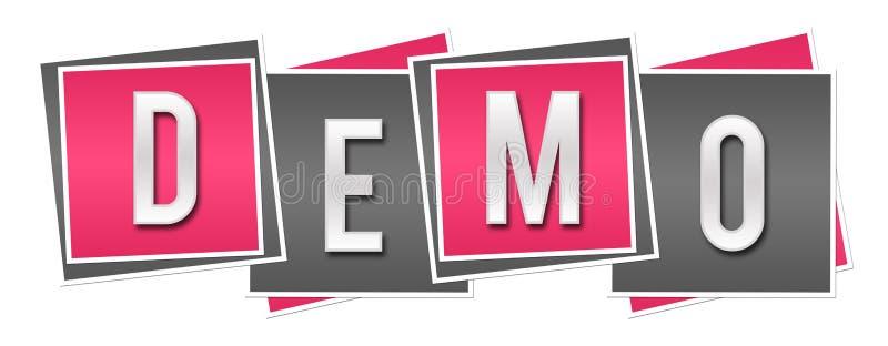 Demo Pink Grey Blocks lizenzfreie abbildung