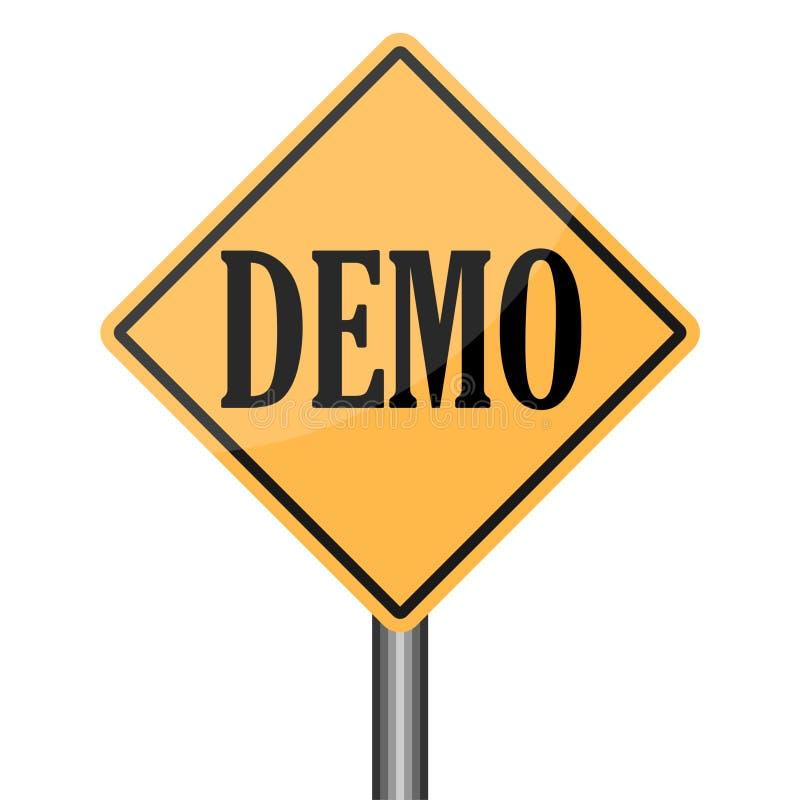 Demo Product Demonstration Road Sign serviceexempel stock illustrationer