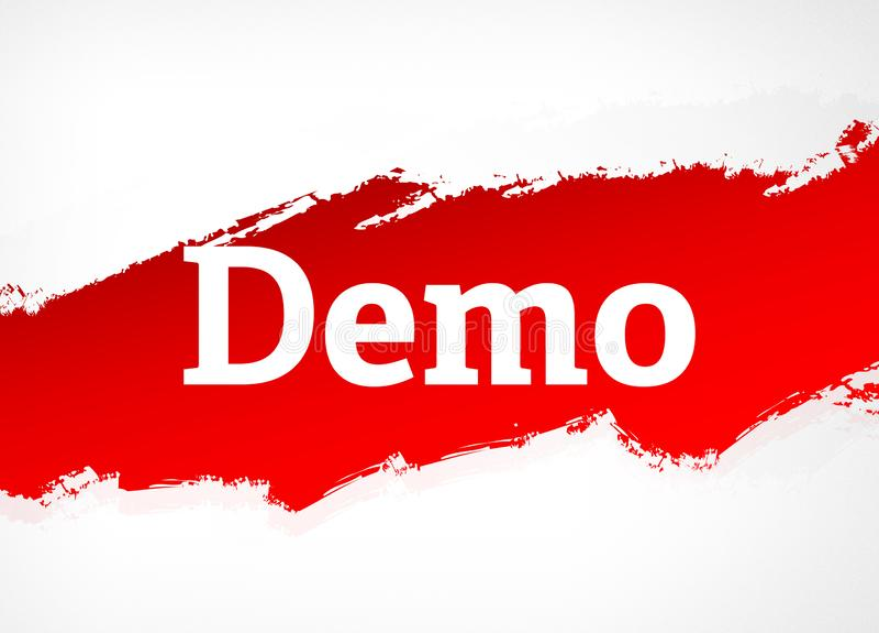 Demo Red Brush Abstract Background illustration stock illustrationer