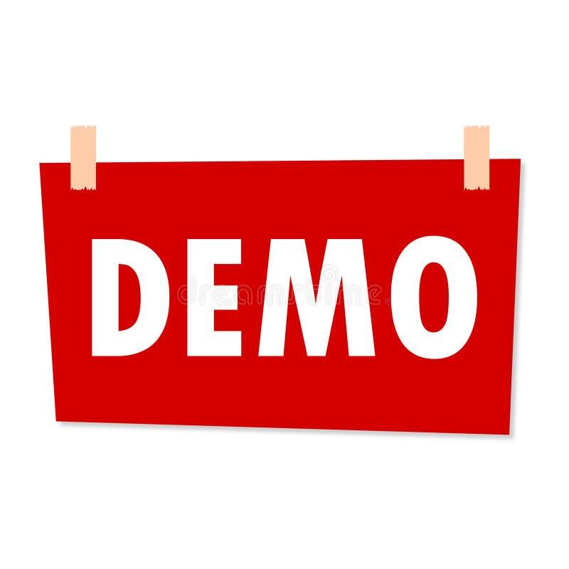 Demo Sign - illustration royaltyfri illustrationer