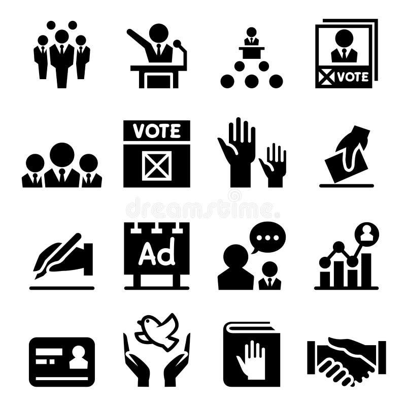 Democracia & ícone da eleição ilustração royalty free
