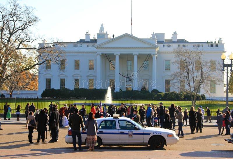 Democracia - casa branca, Washington America fotografia de stock royalty free