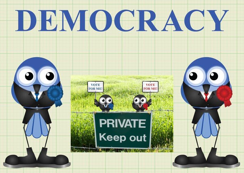 Democracia com políticos ilustração do vetor