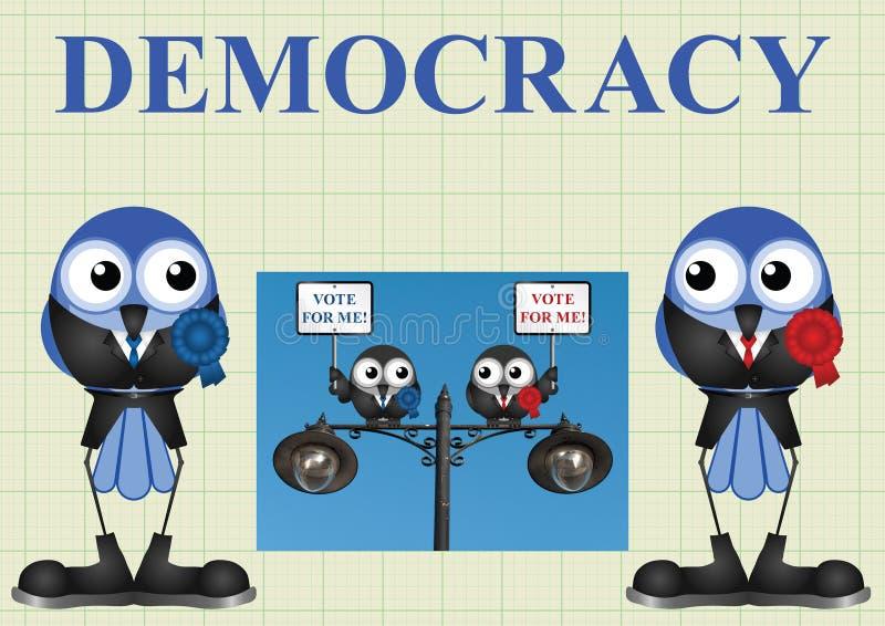 Democracia com políticos ilustração royalty free