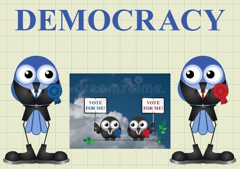 Democracia com políticos ilustração stock