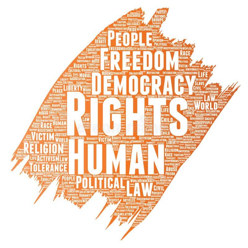 Democracia de la libertad política de los derechos humanos del vector ilustración del vector