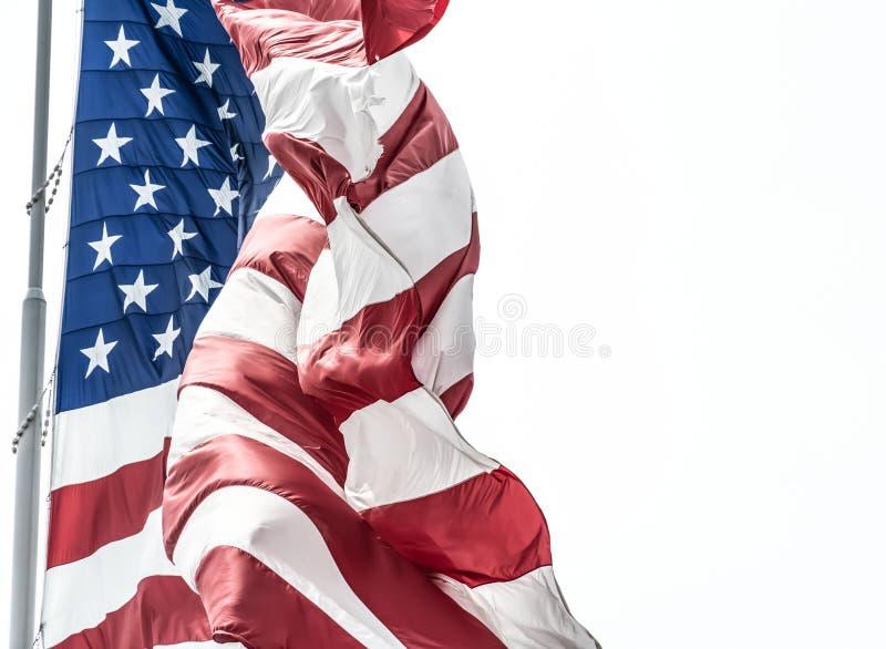 Democracia de representação branca e azul vermelha fotografia de stock