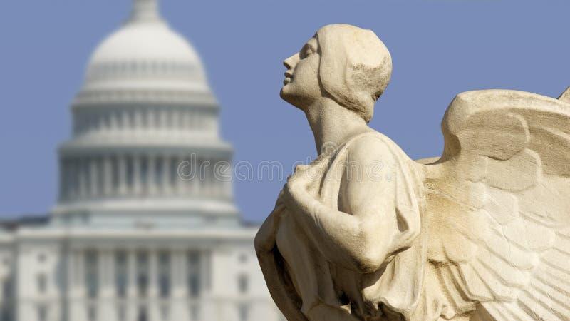 Democracia del capitolio imagen de archivo libre de regalías