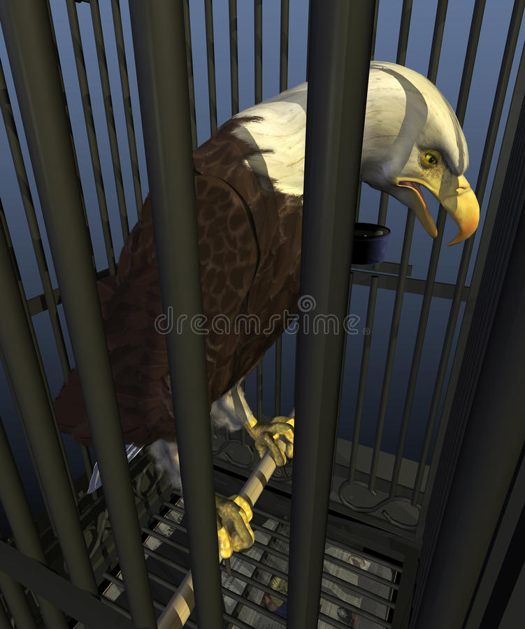 Democracia em América: Nação da encarceração ilustração do vetor