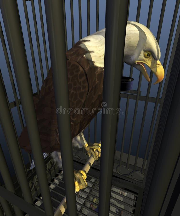 Democracia en América: Nación del encarcelamiento ilustración del vector