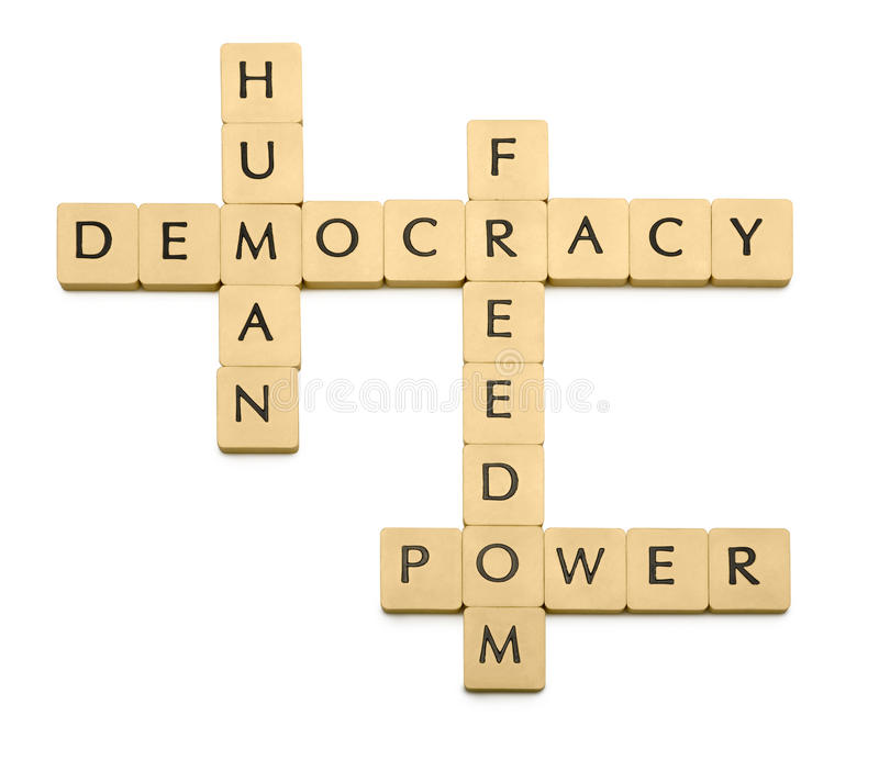 Democracy. Four words on white background vector illustration