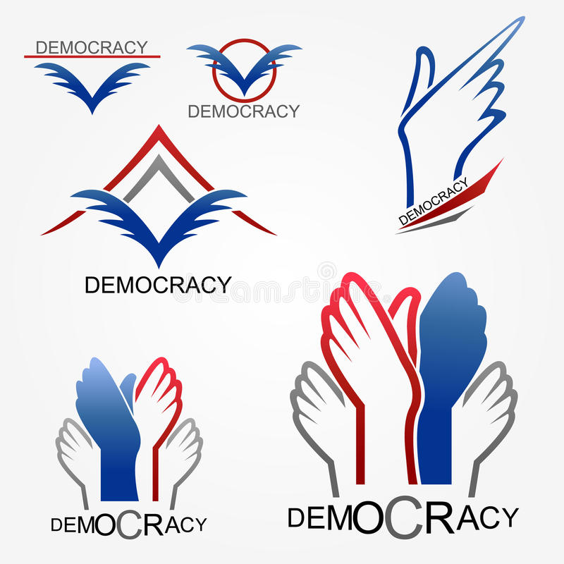 Democracy. Logo is sign for politic - Vector stock illustration