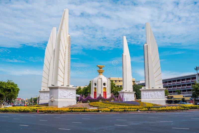 Democracy Monument of Bangkok, Thailand. Democracy Monument is a public monument in the centre of Bangkok. It occupies a traffic circle on the Ratchadamnoen royalty free stock photography