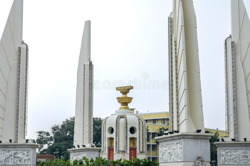 Democracy Monument landmark in Bangkok royalty free stock photo