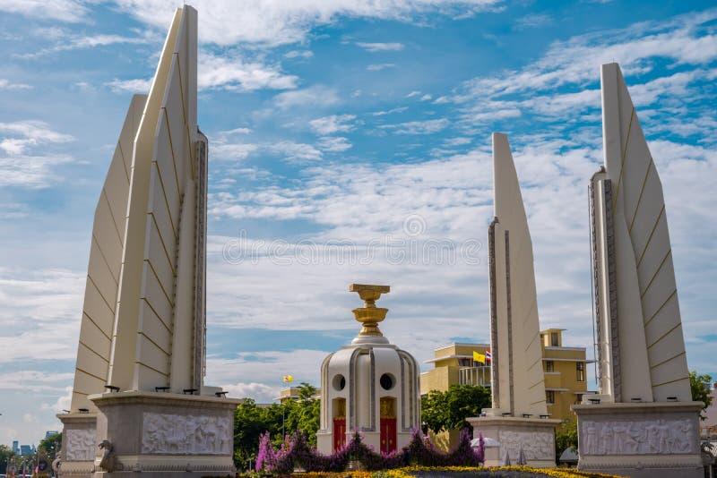 Democracy Monument of Bangkok, Thailand. Democracy Monument is a public monument in the centre of Bangkok. It occupies a traffic circle on the Ratchadamnoen stock photos