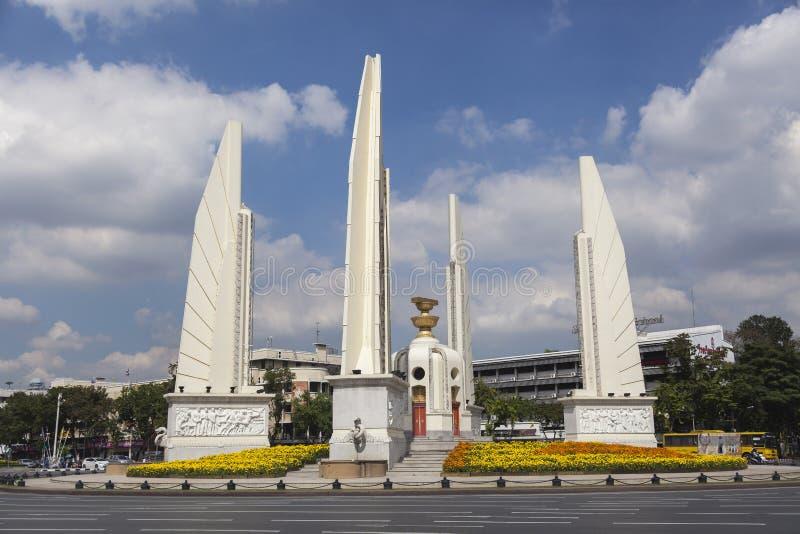 Democracy monument in Bangkok. The Democracy Monument (Thai stock photography