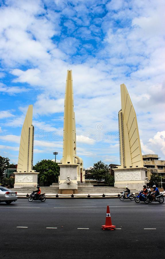 Democracy monuments in Thailand. royalty free stock images