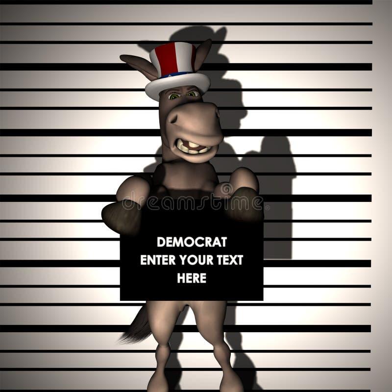 Democrat - Arrested vector illustration
