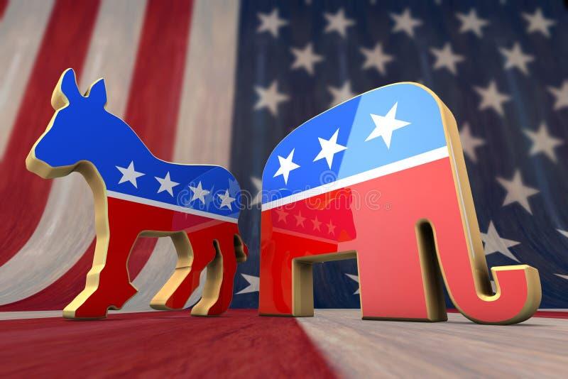 Democrat e repubblicano royalty illustrazione gratis