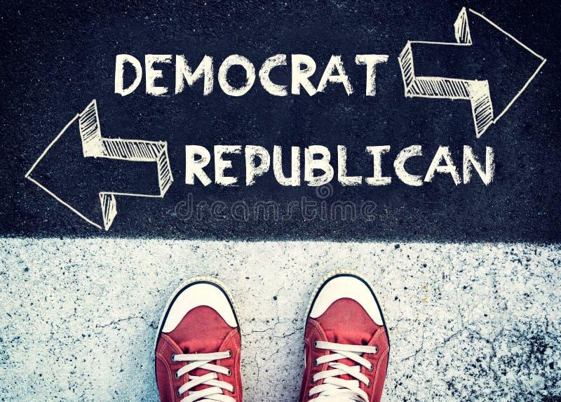Democrat e repubblicano fotografia stock libera da diritti
